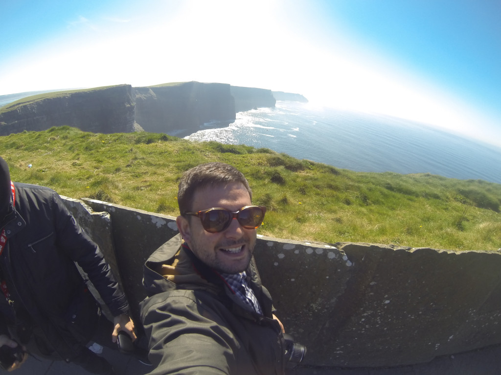 Sunny day at the cliffs of Moher, April 2015.